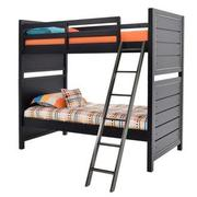 Graphite Twin Over Twin Bunk Bed  main image, 1 of 7 images.