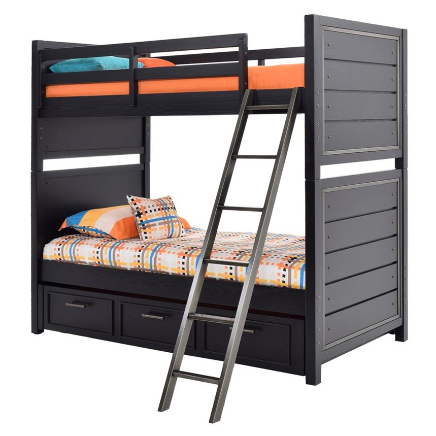 Graphite Twin Over Twin Bunk Bed  alternate image, 3 of 7 images.