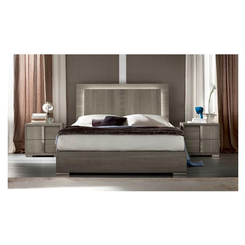 Tivo Gray King Platform Bed Made in Italy  alternate image, 3 of 6 images.