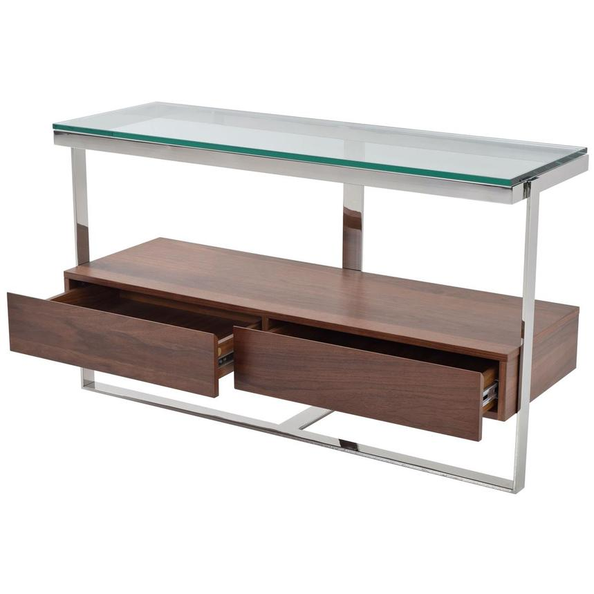 Calypso Walnut Console Table  alternate image, 3 of 4 images.