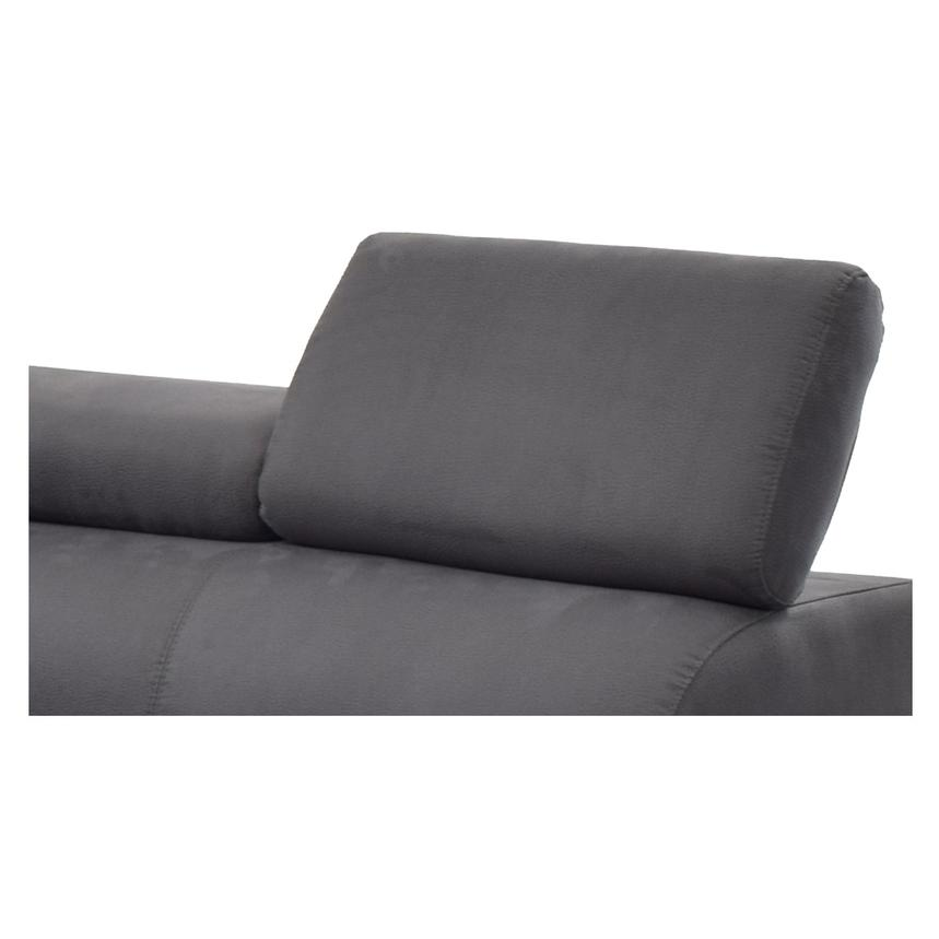 Ilias Gray Corner Sofa w/Right Chaise  alternate image, 3 of 8 images.