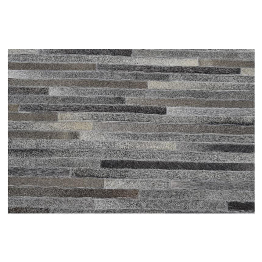 Capri Gray Cowhide Patchwork 5' x 8' Area Rug  alternate image, 3 of 4 images.