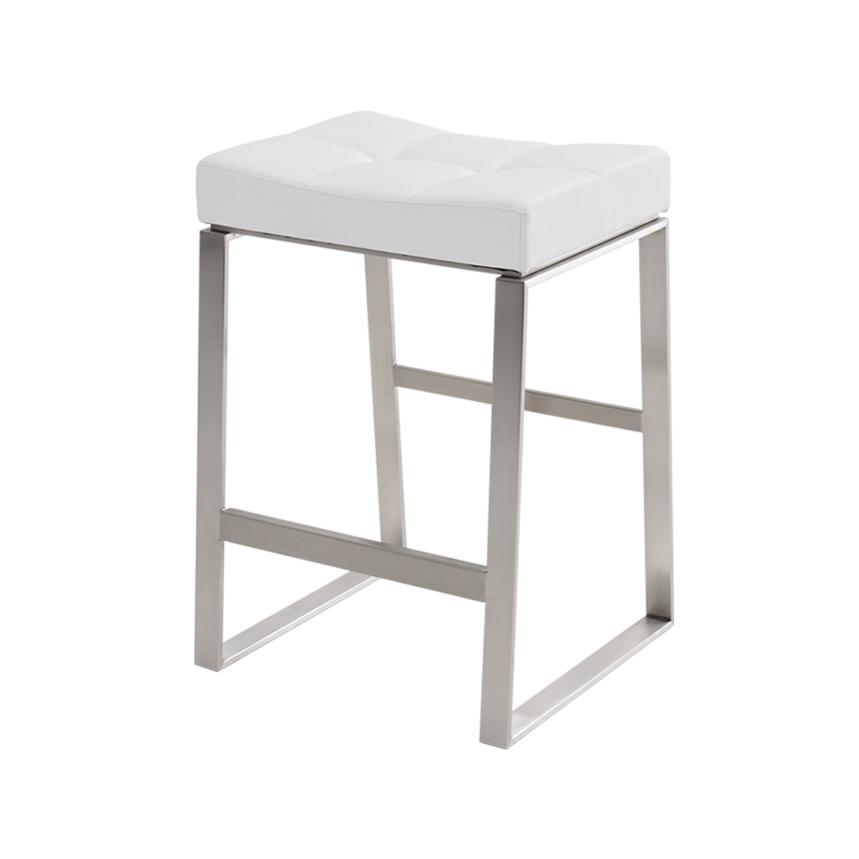 Sabriel White Counter Stool  alternate image, 2 of 4 images.