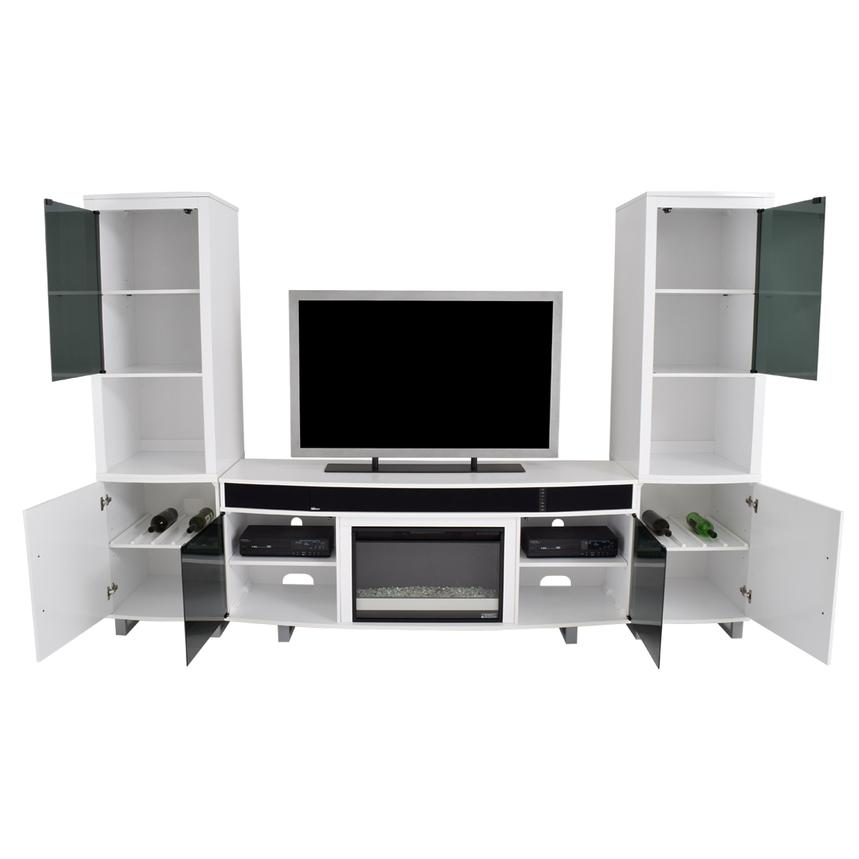 Enterprise White Wall Unit w/Speakers  alternate image, 3 of 13 images.