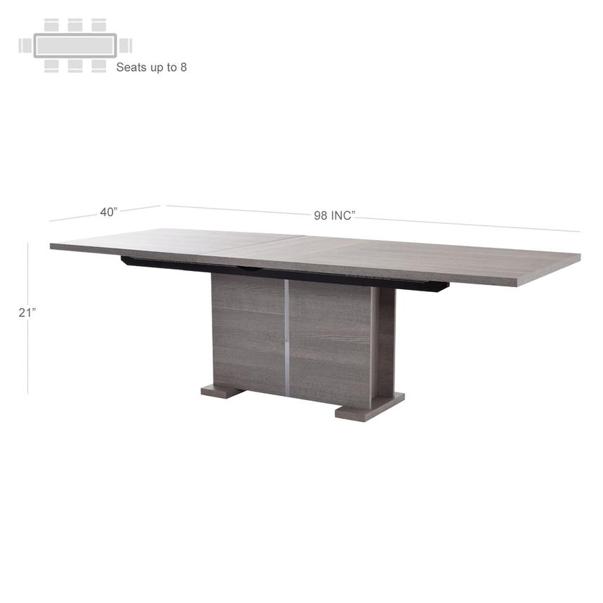 Tivo Gray Extendable Dining Table  alternate image, 4 of 7 images.