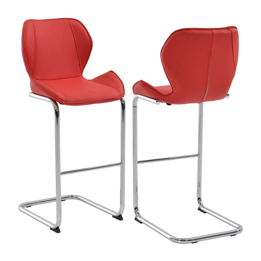Stupendous Latika Red Bar Stool Gmtry Best Dining Table And Chair Ideas Images Gmtryco