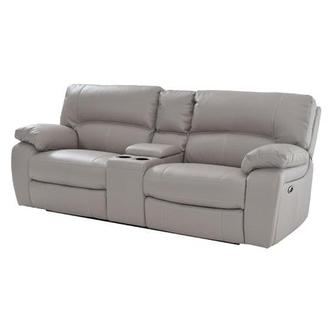 Camillo Gray Power Motion Sofa w/Console
