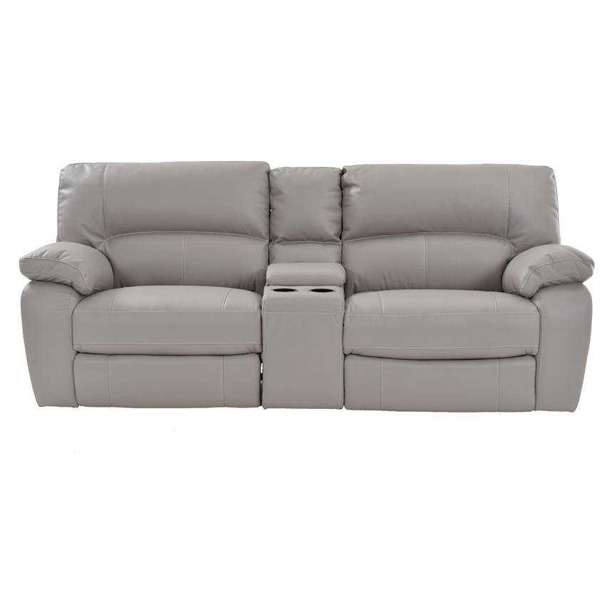 Camillo Gray Power Motion Sofa w/Console  alternate image, 3 of 7 images.