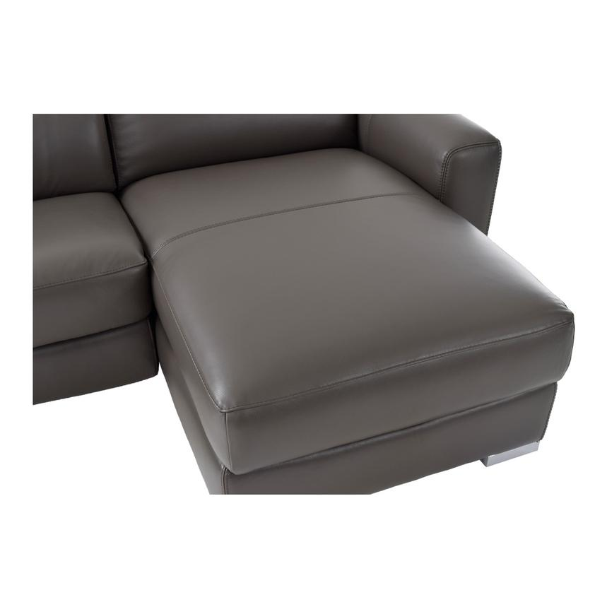 Bay Harbor Gray Leather Sleeper w/Right Chaise  alternate image, 8 of 9 images.