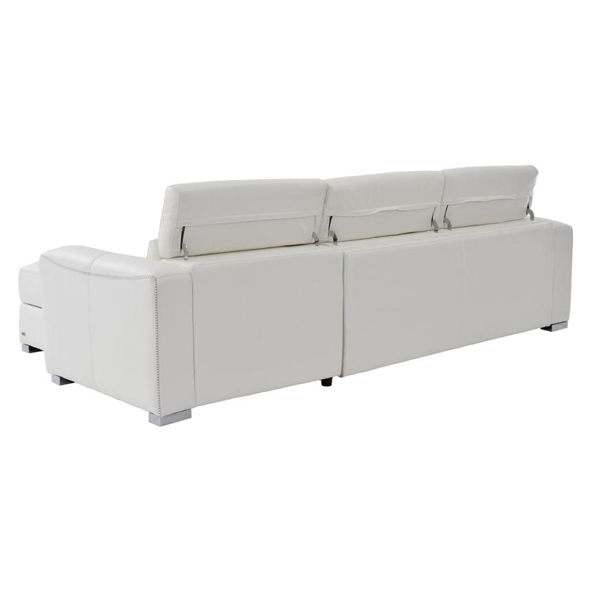 Bay Harbor White Leather Sleeper w/Right Chaise  alternate image, 3 of 10 images.