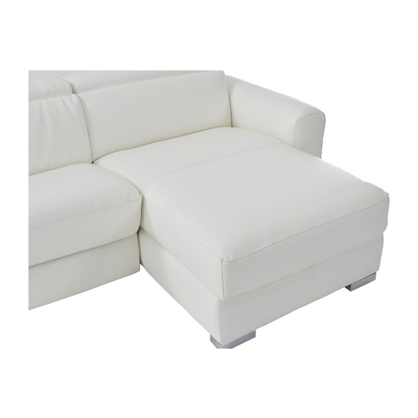 Bay Harbor White Leather Sleeper w/Right Chaise  alternate image, 8 of 10 images.