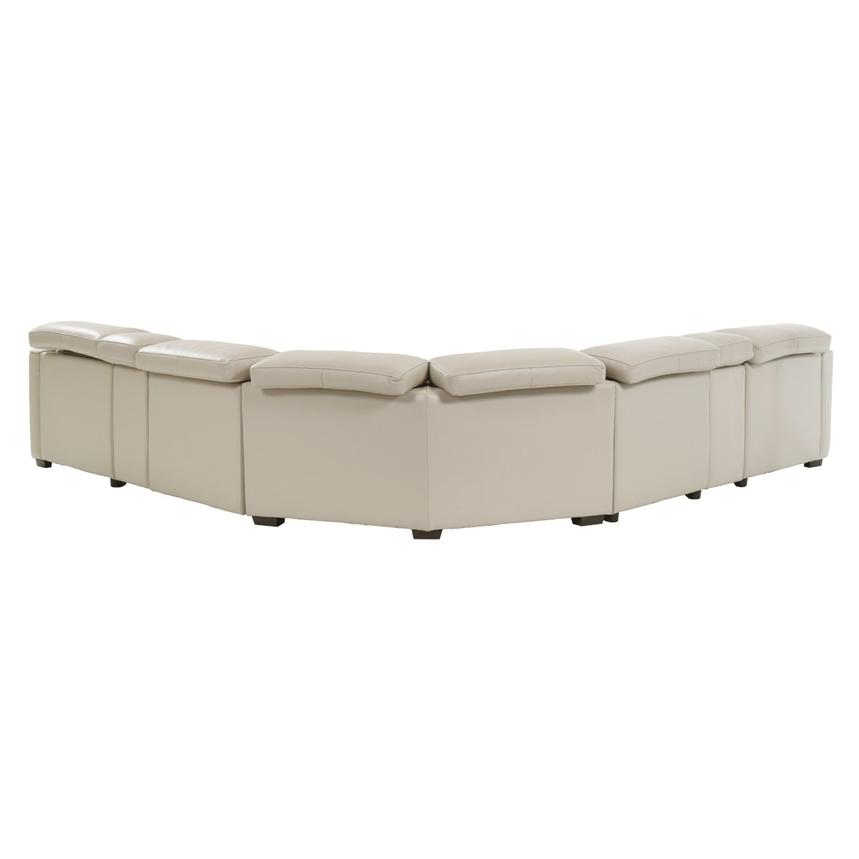 James Cream Power Motion Leather Sofa w/Right & Left Recliners  alternate image, 4 of 9 images.