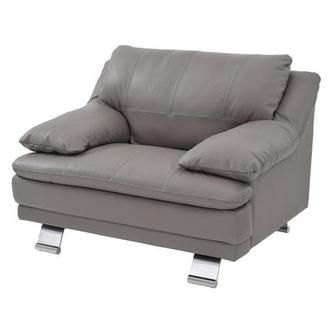 Rio Light Gray Leather Chair Made in Brazil