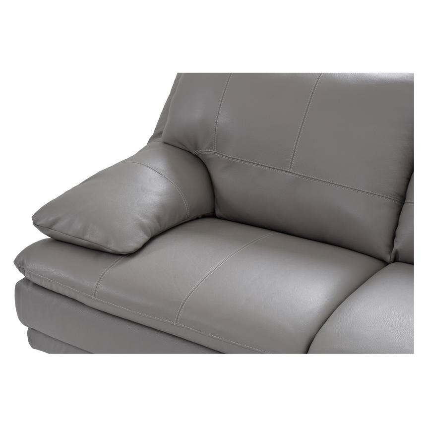 Rio Light Gray Leather Sofa w/Right Chaise  alternate image, 3 of 7 images.
