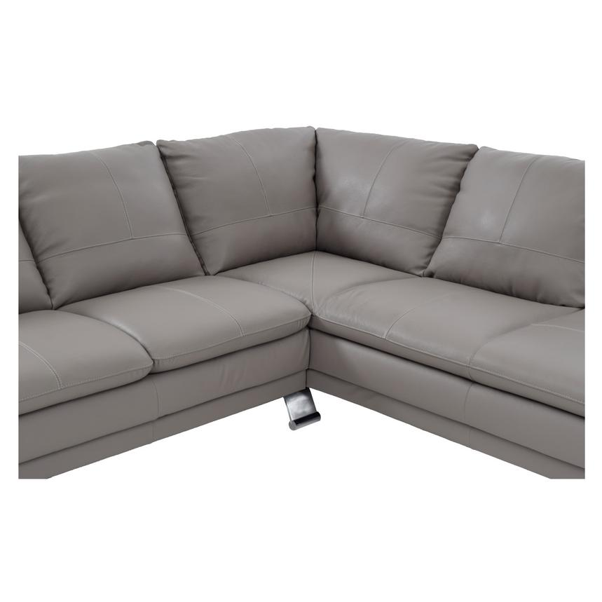 Rio Light Gray Leather Corner Sofa w/Right Chaise  alternate image, 4 of 8 images.