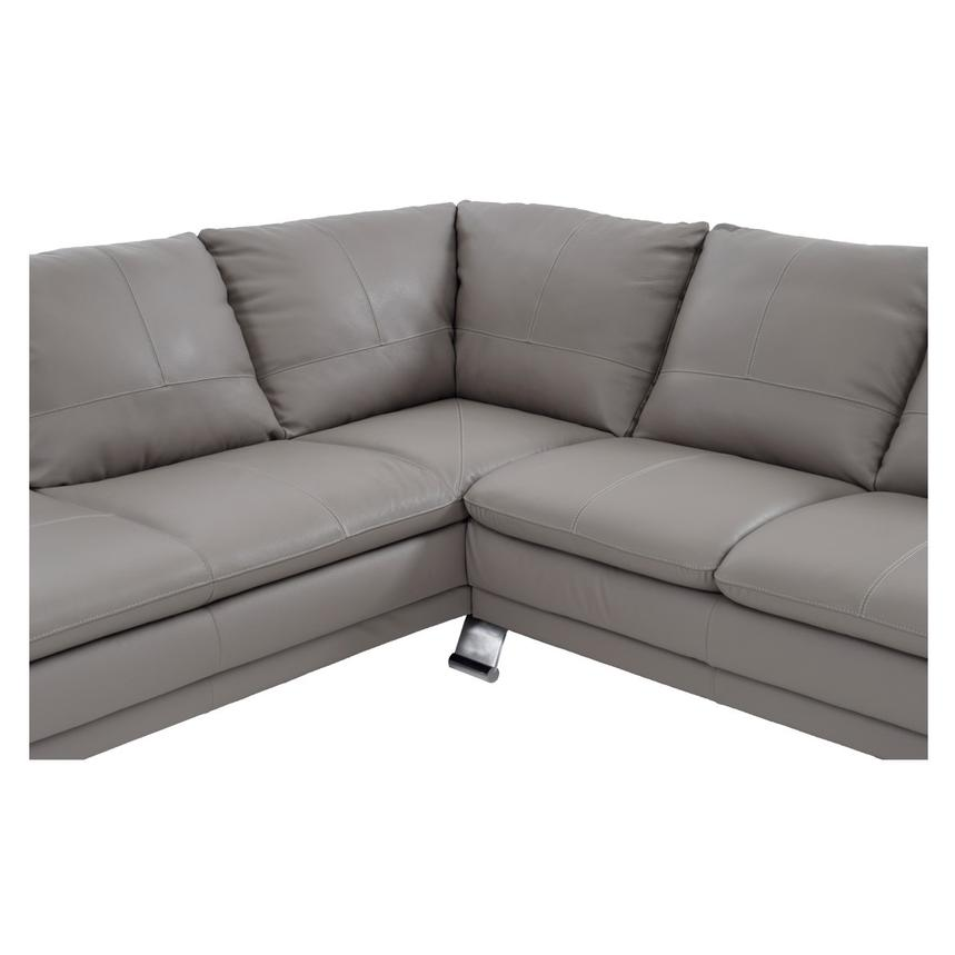 Rio Light Gray Leather Sofa w/Left Chaise  alternate image, 4 of 7 images.