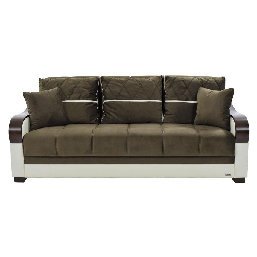 Bennett Brown Futon Sofa w/Storage  alternate image, 4 of 7 images.