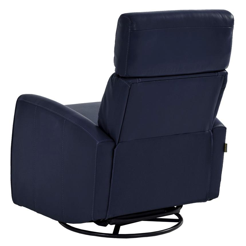 Lucca Blue Power Motion Leather Recliner  alternate image, 4 of 7 images.