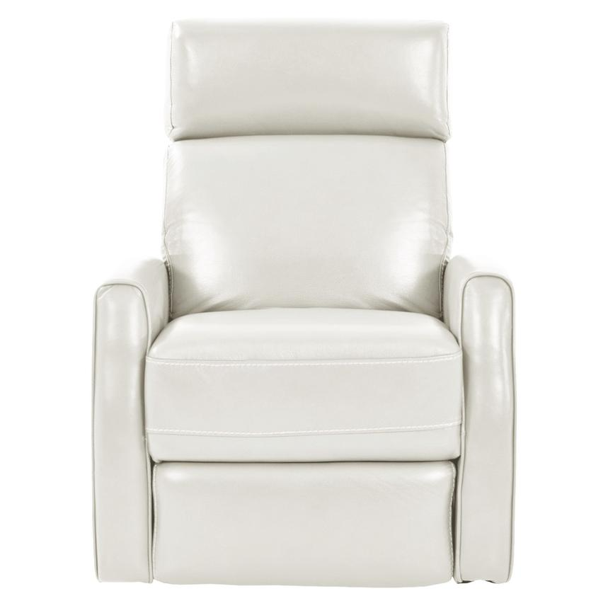 Lucca White Power Motion Leather Recliner  alternate image, 3 of 7 images.