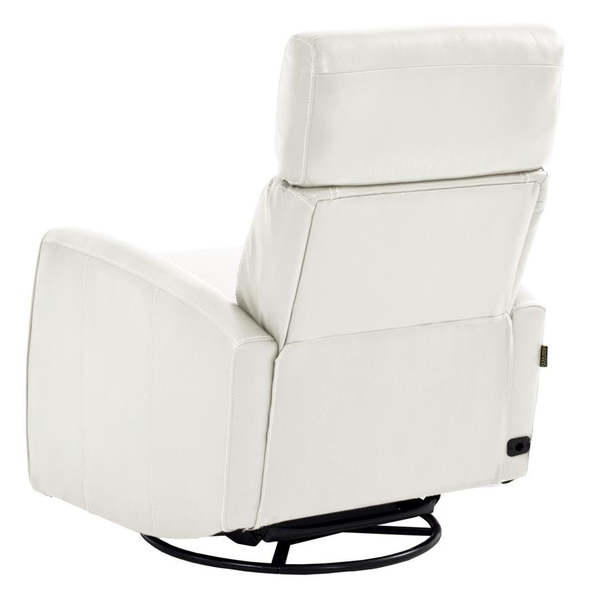 Lucca White Leather Power Recliner  alternate image, 4 of 8 images.