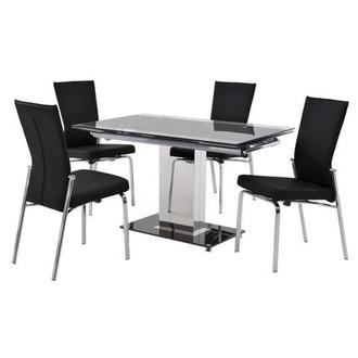 Antonia Black 5-Piece Casual Dining Set