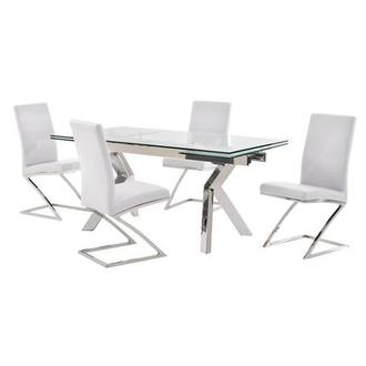 Lynne Clear/Jade White 5-Piece Formal Dining Set