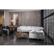 Tesla White Oversized Leather Sofa  alternate image, 2 of 7 images.