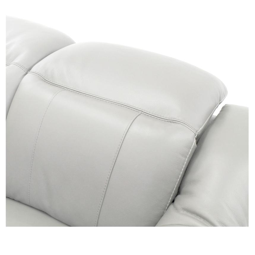Davis White Power Motion Leather Sofa w/Right & Left Recliners  alternate image, 4 of 9 images.