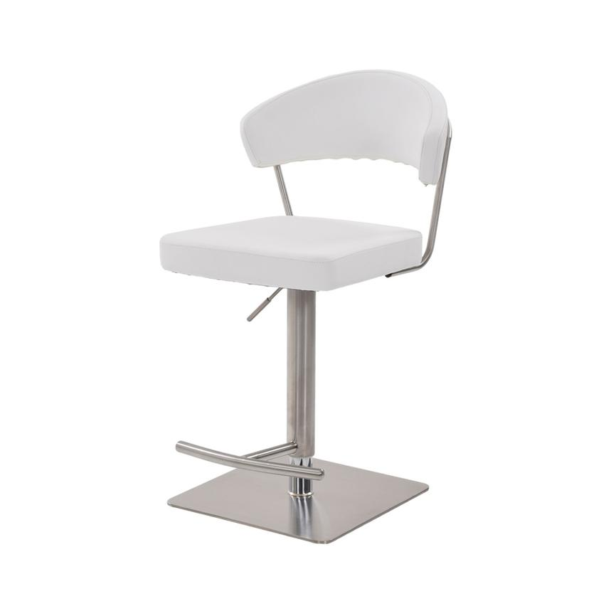 Bold White Adjustable Stool  alternate image, 3 of 7 images.