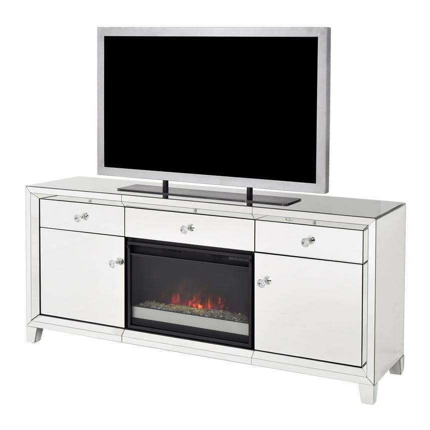 Fine Amia Mirrored Faux Fireplace W Remote Control Ncnpc Chair Design For Home Ncnpcorg