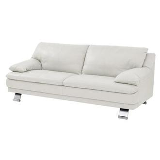 Rio White Leather Sofa Made in Brazil