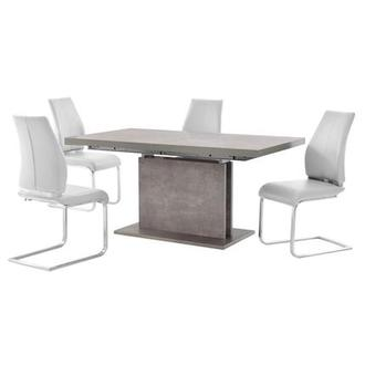 Kalinda/Maday White 5-Piece Dining Set