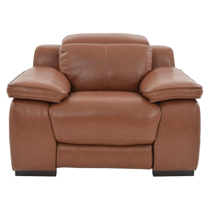 Gian Marco Tan Power Motion Leather Recliner  alternate image, 3 of 8 images.