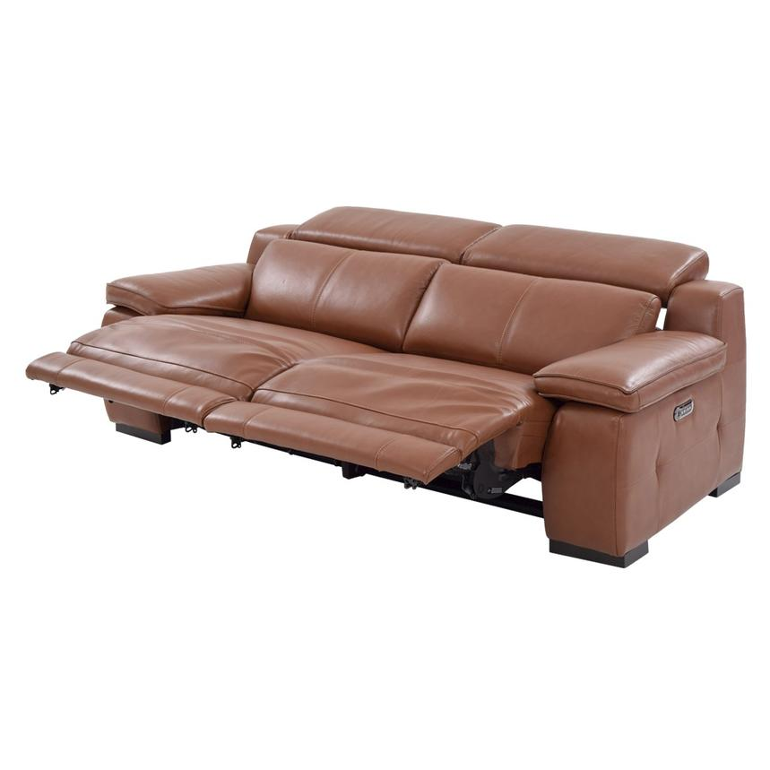 Gian Marco Tan Leather Power Reclining Sofa  alternate image, 4 of 10 images.