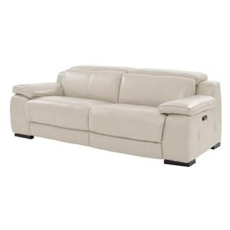 Gian Marco Cream Leather Power Reclining Sofa