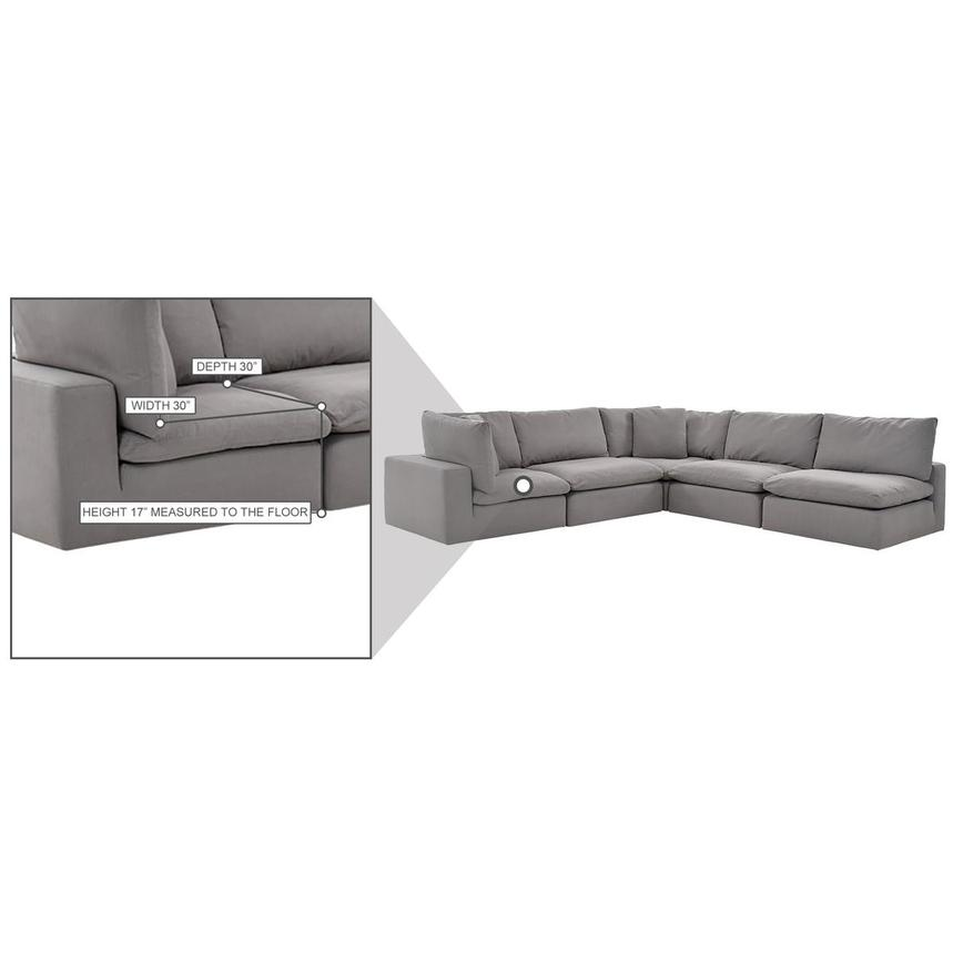 Nube II Gray Sectional Sofa  alternate image, 10 of 11 images.