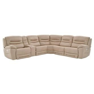 Dan Cream Power Reclining Sectional