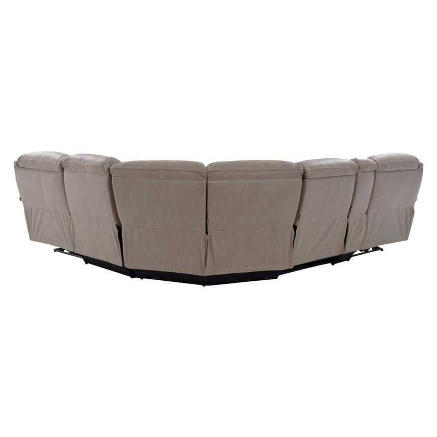 Dan Light Gray Power Motion Sofa w/Right & Left Recliners  alternate image, 3 of 9 images.