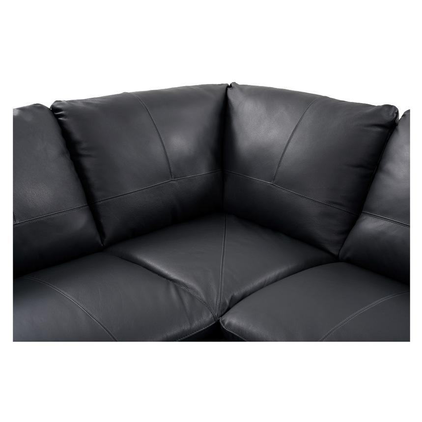 Rio Dark Gray Leather Corner Sofa w/Left Chaise  alternate image, 4 of 8 images.