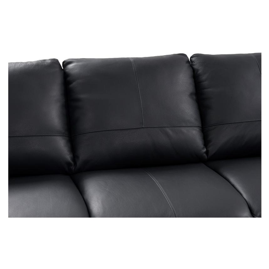 Rio Dark Gray Leather Corner Sofa W Right Chaise El