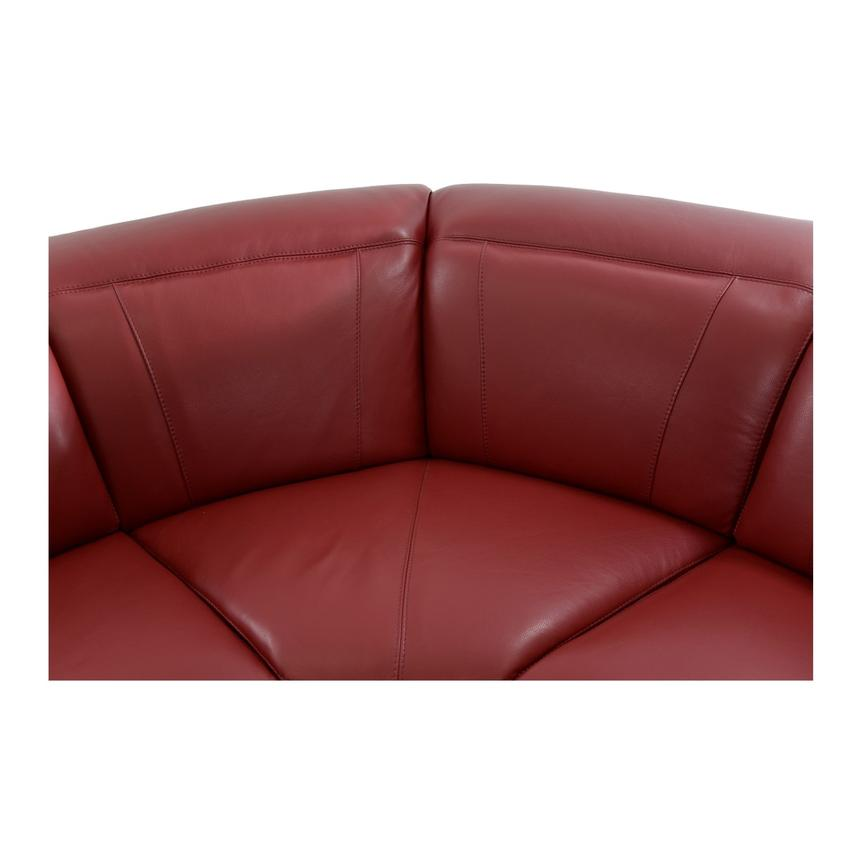 Davis Red Power Motion Leather Sofa w/Right & Left Recliners  alternate image, 4 of 11 images.