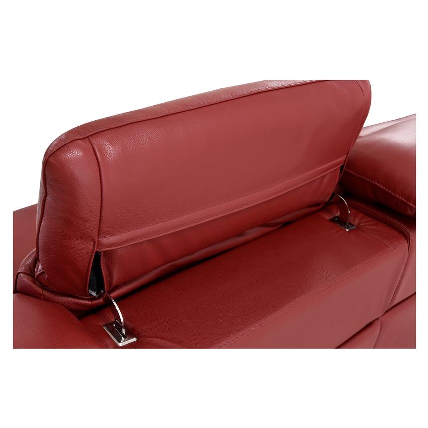Davis Red Power Motion Leather Sofa w/Right & Left Recliners  alternate image, 9 of 11 images.