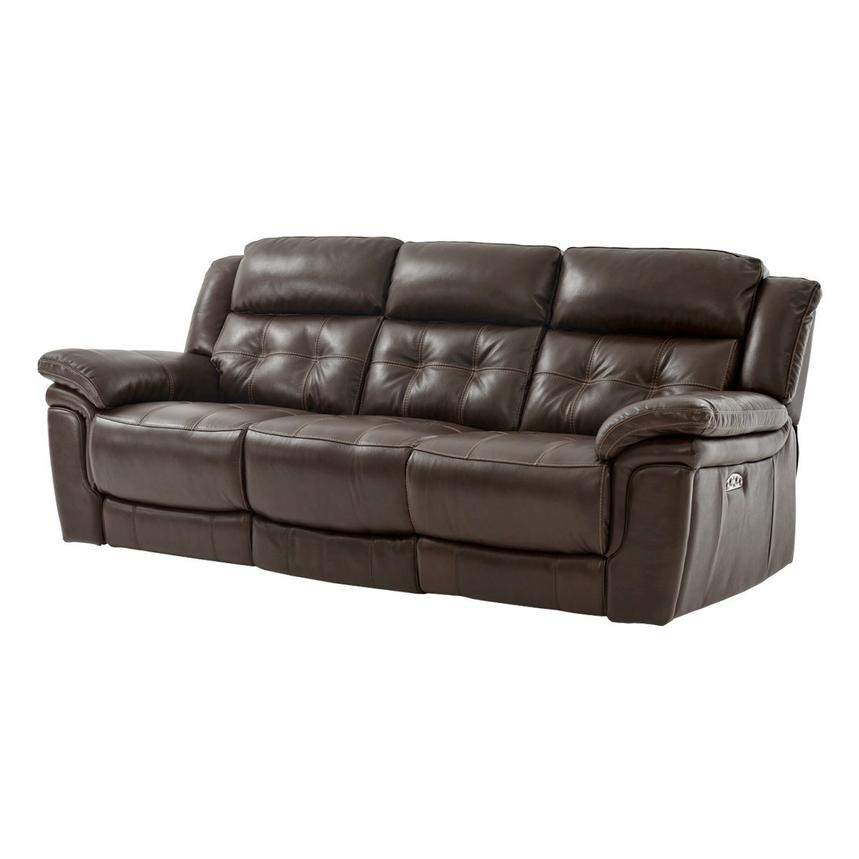 Phenomenal Stallion Brown Leather Power Reclining Sofa Pabps2019 Chair Design Images Pabps2019Com