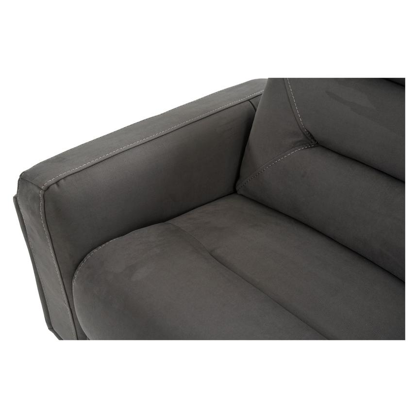 Kim Gray Power Reclining Sofa w/Console  alternate image, 9 of 14 images.