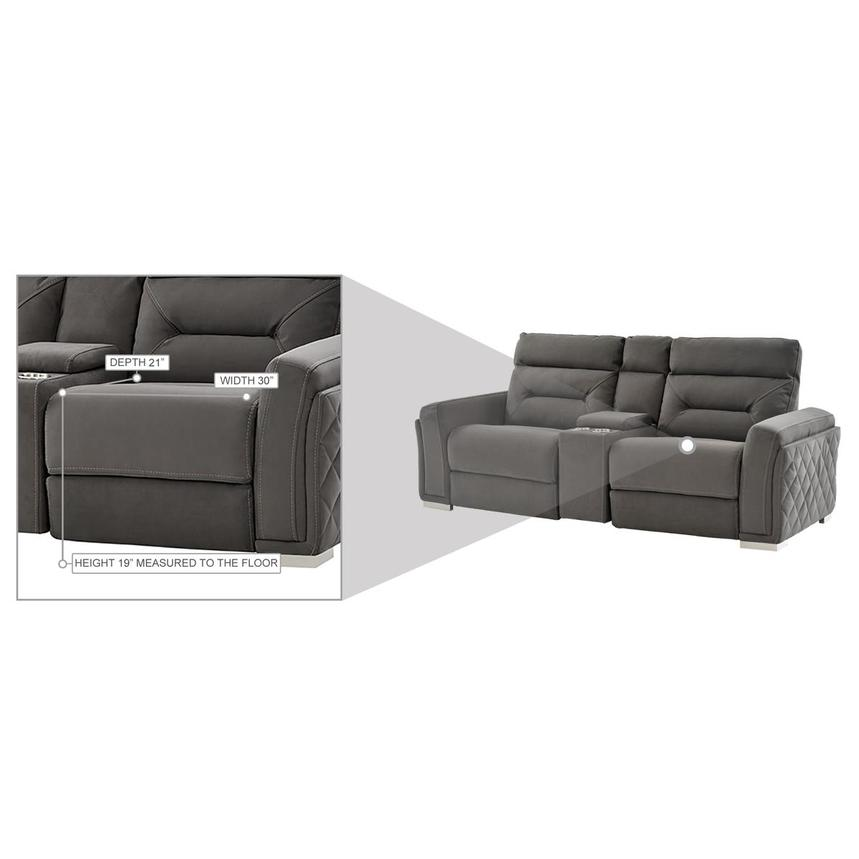 Kim Gray Power Reclining Sofa w/Console  alternate image, 13 of 13 images.