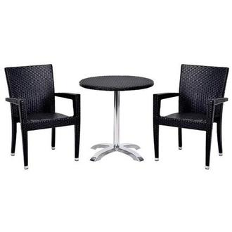 Gerald/Neilina Black 3-Piece Patio Set