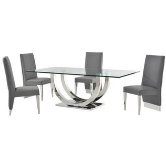 Ulysis Gray 5-Piece Formal Dining Set