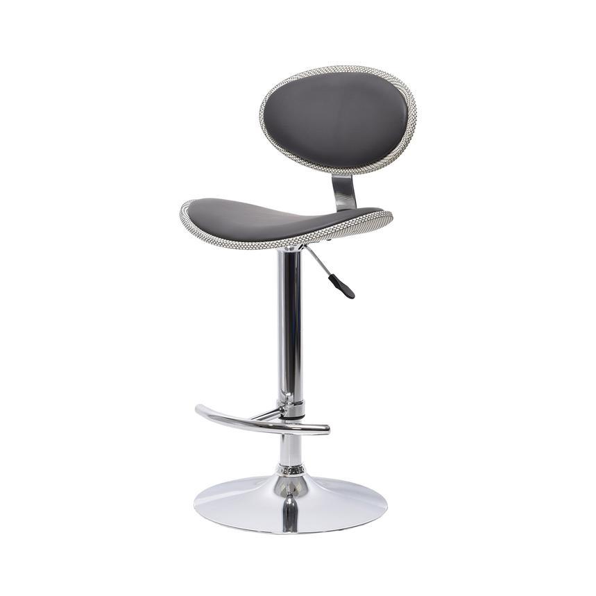 Noe Gray Adjustable Stool El Dorado Furniture