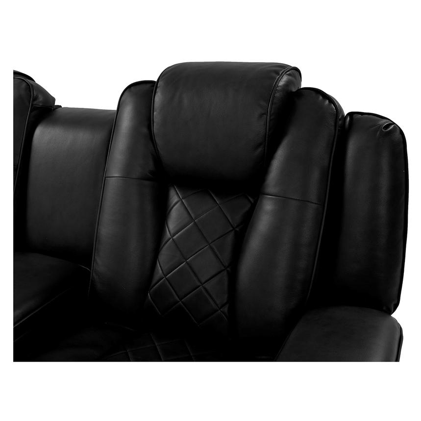 Chanel Black Power Motion Sofa w/Console  alternate image, 9 of 12 images.