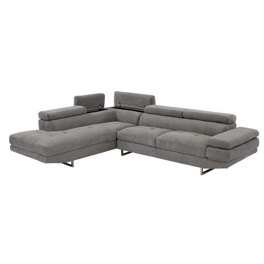 Taheri Gray Sofa w/Left Chaise  alternate image, 3 of 7 images.